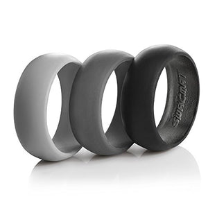 Swagmat 8.7mm 3-Pack Silicone Rings (10) - His Perfect Gifts