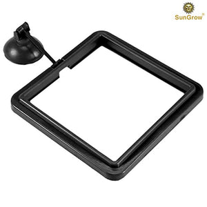 "4"" x 4"" Square Feeding Ring - Practical Floating Food Square - Reduces Waste & Maintains Water Quality - Suitable for Flakes & Other Floating Fish Foods - for Guppy, Goldfish and Other Smaller Fish - His Perfect Gifts"
