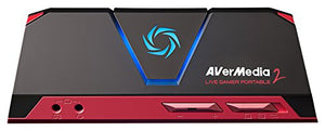 AVerMedia Live Gamer Portable 2, Full HD 1080p60 Recording Without PC Directly to SD Card, Ultra Low Latency, H.264 Hardware Encoding, USB Game Capture, Record, Stream, Plug & Play, Party Chat, XBOX, Playstation, Nintendo Switch (GC510) - His Perfect Gifts