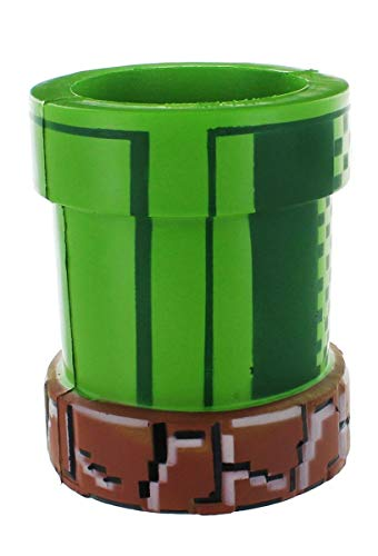 Nintendo Super Mario Bros Can Cooler | Novelty Drink and Bottle Holder Video Game and Gamer Gifts | Green Foam Warp Pipe Perfect for Parties, Outdoors, Summer, Traveling - His Perfect Gifts