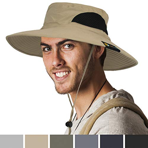 7041735d3 SUN CUBE Premium Boonie Hat with Wide Brim, Adjustable Chin Strap | Ou