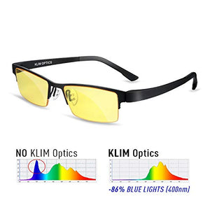 Blue Light Blocking Glasses - High protection for screen - Blue Blocker Gaming Glasses PC Mobile TV - Anti Eye Fatigue Anti UV Blue Light - Blue Lights Filters Computer & Reading Glasses - His Perfect Gifts