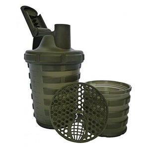 Grenade Shaker with Protein Compartment, 20 Ounce - His Perfect Gifts