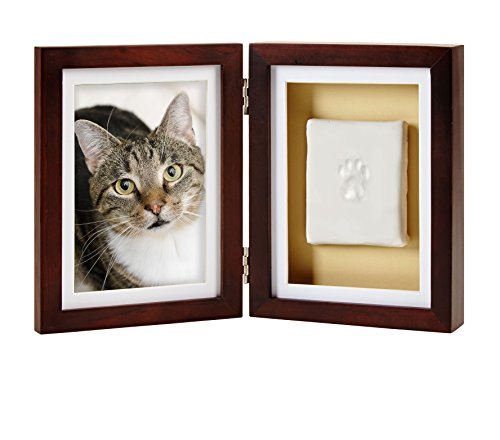Pearhead Dog or Cat Paw Print Pet Keepsake Photo Frame With Clay Imprint Kit, Perfect Keepsake Frame for Pet Lovers - His Perfect Gifts