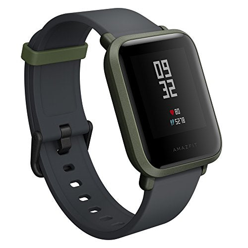 Amazfit Bip Smartwatch by Huami with All-Day Heart Rate and Activity Tracking, Sleep Monitoring, GPS, Ultra-Long Battery Life, Bluetooth, US Service and Warranty (A1608 Green) - His Perfect Gifts