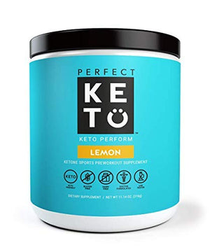 Perfect Keto Perform Preworkout Supplement: Pre Workout Powder for Ketosis & Ketogenic Diet. BHB Ketone Salts for Men & Women. BCAA, Nitric Oxide & MCT to Burn Fat for Fuel. Sport Gym Workout Drink - His Perfect Gifts