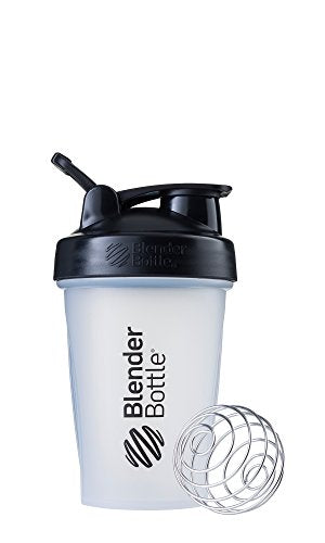 BlenderBottle Classic Loop Top Shaker Bottle, 20-Ounce, Clear/Black/Black - His Perfect Gifts