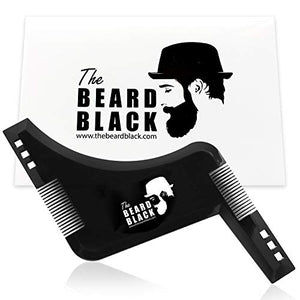 The Beard Black Beard Shaping & Styling Tool with inbuilt Comb for Perfect line up & Edging, use with a Beard Trimmer or Razor to Style Your Beard & Facial Hair, Premium Quality Product - His Perfect Gifts