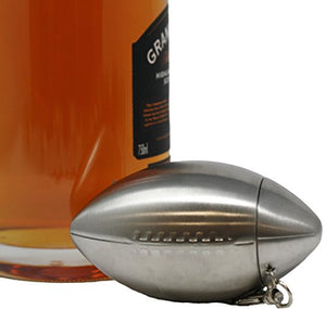 Premium 6 oz Football Shape 304 (18/8) Food Grade Stainless Steel Hip Alcohol Liquor Flask - BPA free and Leak and Rust Proof - Discrete Drinking Gift - His Perfect Gifts