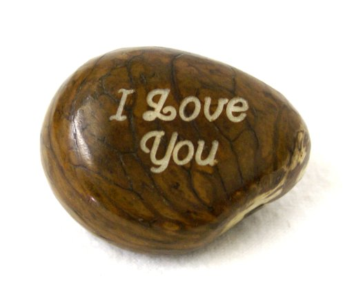 Lifeforce Glass Engraved I Love You Tagua Nut. Express Your Feelings in a Beautiful and Unusual Way. From - His Perfect Gifts