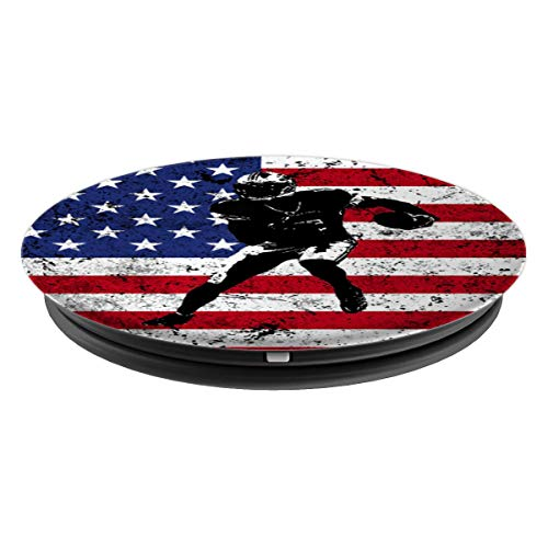 Football USA Flag Pop Socket Player Christmas Birthday Gift - PopSockets Grip and Stand for Phones and Tablets - His Perfect Gifts