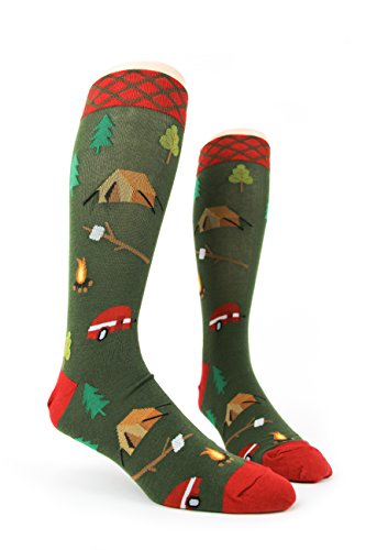 Foot Traffic - Men's Outdoors-Themed Socks, Camping (Shoe Sizes 7-12) - His Perfect Gifts