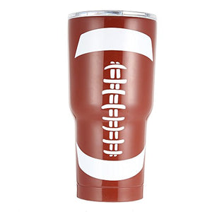 E-FirstFeeling Tumbler 30 oz Stainless Steel Vacuum Insulated Cup Travel Mug with Lid (Football) - His Perfect Gifts