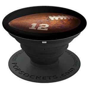 12 Football Number PopSockets Grid Player #12 - PopSockets Grip and Stand for Phones and Tablets - His Perfect Gifts