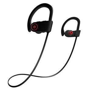 Otium Bluetooth Headphones, Best Wireless Sports Earphones w/Mic IPX7 Waterproof HD Stereo Sweatproof in-Ear Earbuds Gym Running Workout 8 Hour Battery Noise Cancelling Headsets - His Perfect Gifts