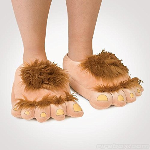 Ibeauti Furry Monster Adventure Slippers, Comfortable Novelty Warm Winter Hobbit Feet Slippers for Adults - His Perfect Gifts