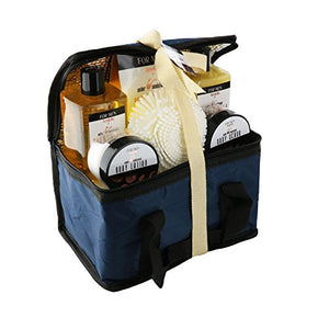 Spa Life All Natural Bath and Body Luxury Spa Gift Set Basket (Mens Sandalwood) - His Perfect Gifts