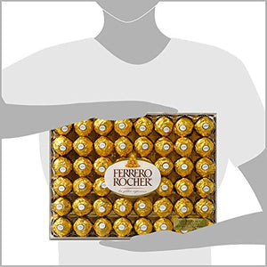 Ferrero Rocher Fine Hazelnut Chocolates, Chocolate Gift Box for Valentines day candy, 48 Count, 21.2 oz - His Perfect Gifts