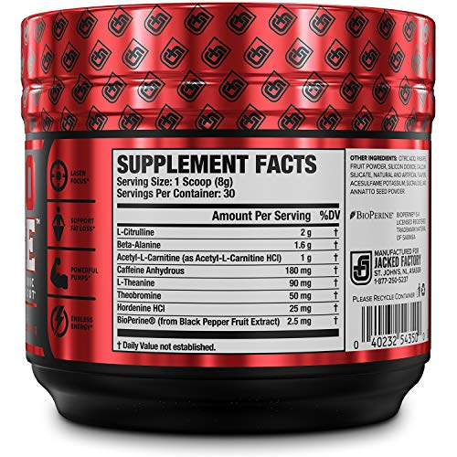 NITROSURGE SHRED Pre Workout Fat Burner Supplement - 30 Servings, Orange Pineapple Flavor 8.5 oz - His Perfect Gifts