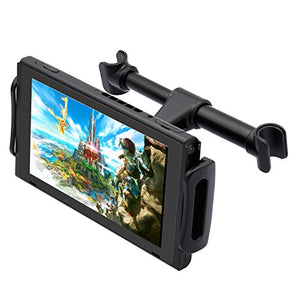 "Car Headrest Mount for Nintendo Switch,Adjustable Car Holder for Nintendo Switch/iPhone/iPad/Amazon Kindle Fire and Other Devices (4""-11"") - His Perfect Gifts"