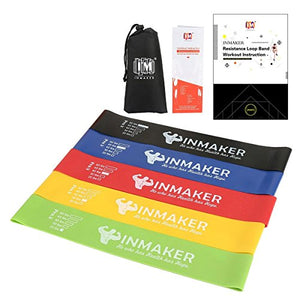 INMAKER Resistance Bands for Legs and Butt, Exercise Bands for Physical Therapy, Mini Elastic Bands - His Perfect Gifts