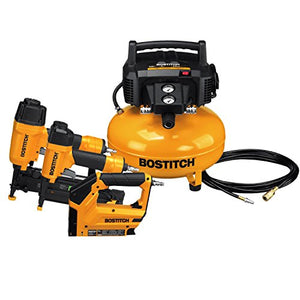 BOSTITCH BTFP3KIT 3-Tool Portable Air Compressor Combo Kit - His Perfect Gifts