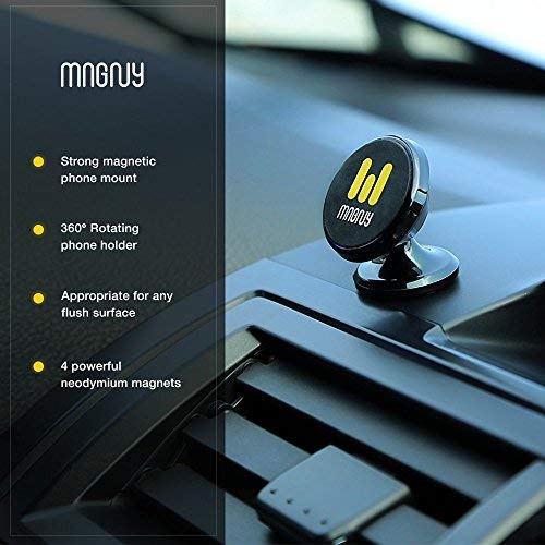 MAGNY Car Magnetic Phone Holder Stronge Magnetic Phone Mount 360 degree magnetic phone holder Magnetic Car Phone Holder Stand Mobile Phone Holder for Car Dashboard Mount for iPhone Samsung Android - His Perfect Gifts