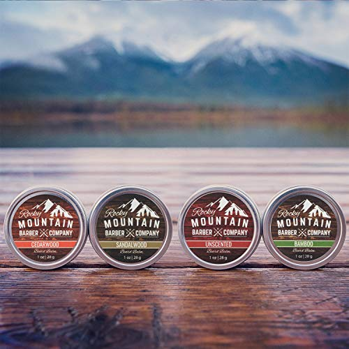 Beard Balm Variety Pack - 4 Beard Balm Samples (1 oz each) Made with Natural Oils, Butters & Rich in Vitamins & Minerals - Argan Oil, Shea Butter, Coconut Oil, Jojoba Oil to Hydrate, Condition - His Perfect Gifts