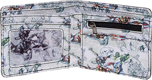 Marvel Comics Men's Character Interior Print Bifold Wallet (Multi Color 2) - His Perfect Gifts