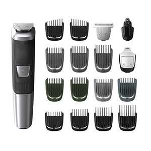 Philips Norelco Multi Groomer MG5750/49 - 18 piece, beard, body, face, nose, and ear hair trimmer and clipper - His Perfect Gifts