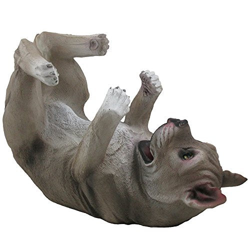 Drinking Pit Bull Wine Bottle Holder Statue in Decorative Home Bar Decor Pet Sculptures & Pitbull Figurines, Wine Racks and Stands and Collectible Gifts for Dog Lovers - His Perfect Gifts