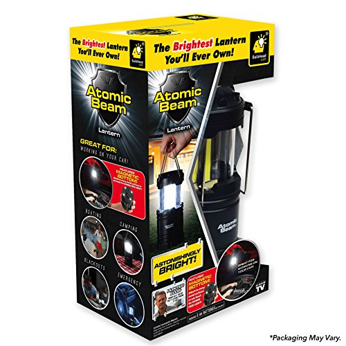 Atomic Beam As Seen On TV Lantern by BulbHead, Bright 360-Degree LED Panel Lantern Battery Powered (1 Pack) - His Perfect Gifts