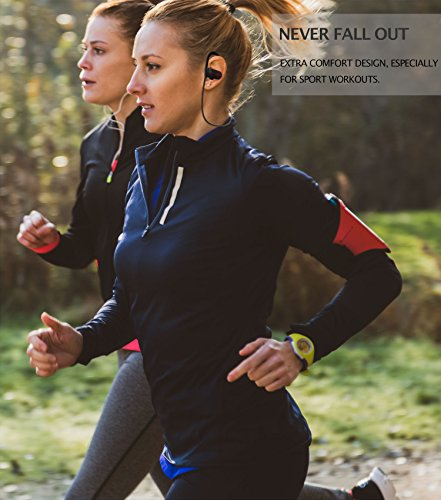 ONE Day Sale! - The MX10 Bluetooth iPhone Headphones - Ear Buds Wireless Headphones - Designed for Running and Sport Workouts - Built-in Microphone with Noise Cancellation - IPX7 Waterproof - His Perfect Gifts