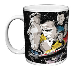 Star Trek To Boldly Go Group Cast (Joshua Budich) Sci-Fi TV Television Show Ceramic Gift Coffee (Tea, Cocoa) (11 OZ C HANDLE CERAMIC MUG) - His Perfect Gifts