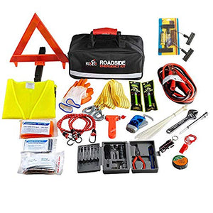 Premium Auto Emergency Kit 156-Piece Multipurpose Emergency Pack - His Perfect Gifts