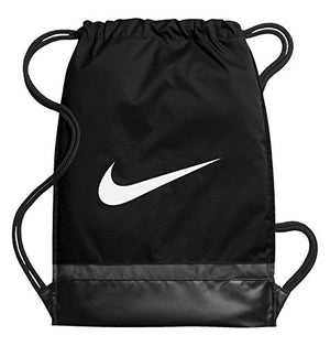 NIKE Brasilia Gymsack, Black/Black/White, One Size - His Perfect Gifts