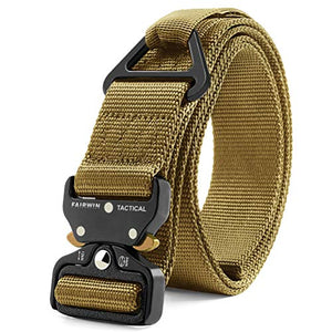 Fairwin Tactical Rigger Belt, Nylon Webbing Waist Belt with V-Ring Heavy-Duty Quick-Release Buckle - His Perfect Gifts
