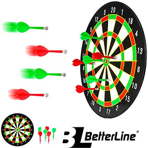 Magnetic Dartboard Set - 16 Inch Dart Board with 6 Magnet Darts for Kids and Adults, Gift for Game Room, Office, Man Cave and Home - His Perfect Gifts