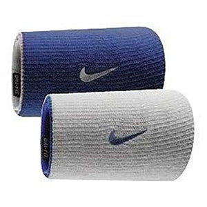 NIKE Dri-Fit Home & Away Doublewide Wristbands (1 Pair, One Size Fits Most, Varsity Royal/White) - His Perfect Gifts