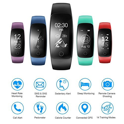 Willful Fitness Tracker, SW331 Fitness Watch Waterproof Pedometer Activity Tracker with Heart Rate Monitor Multiple Sports Mode Sleep Monitor Step Counter Calorie Stop Watch Alarms for Men Women Kids - His Perfect Gifts
