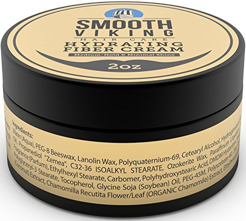 Hair Styling Fiber for Men - Pliable Molding Wax Product with Medium Hold & Minimal Shine - For Modern Hairstyles - Thickens, Texturizes & Increases Fullness in Thinning Hair - 2 OZ - Smooth Viking - His Perfect Gifts