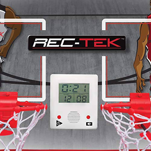 Rec-Tek Over The Door Double Shot Basketball Game for Kids - Features Automatic Scoring, No Tools Required - Complete with All Accessories - His Perfect Gifts