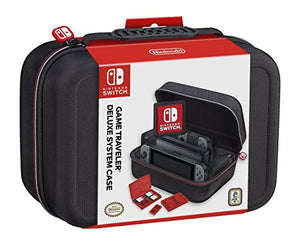 Nintendo Switch System Carrying Case – Protective Deluxe Travel System Case – Black Ballistic Nylon Exterior – Official Nintendo Licensed Product - His Perfect Gifts