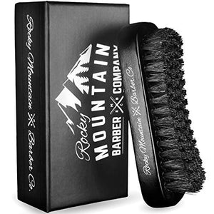 Rocky Mountain Barber Company Boar Hair Beard Brush for Men - His Perfect Gifts
