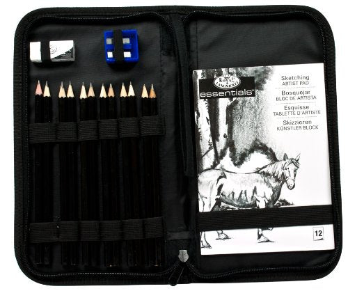 Drawing and Sketching Pencil Set In Zippered Carrying Case - His Perfect Gifts