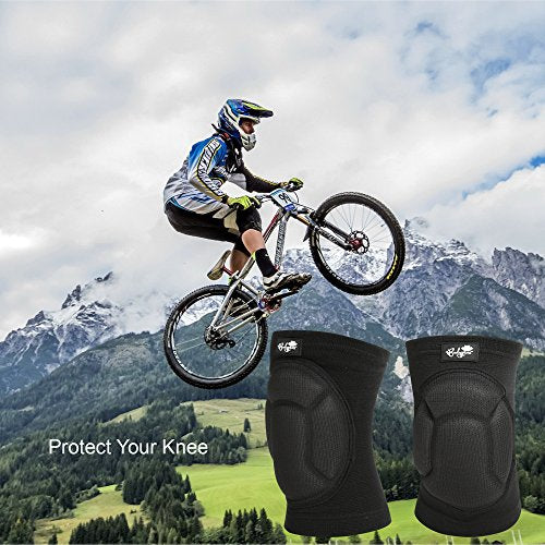 Bodyprox Protective Knee Pads, Thick Sponge Anti-Slip, Collision Avoidance Knee Sleeve (Large) - His Perfect Gifts