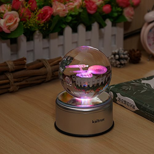 3D Cool Laser Etching Crystal Ball Night Light Gift Lamp for Kids Children Christmas (Star Trek) - His Perfect Gifts