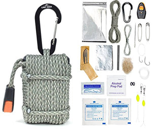The MORTAR Paracord Survival Kit by LAST MAN Survival Gear (Digital Camo) - His Perfect Gifts