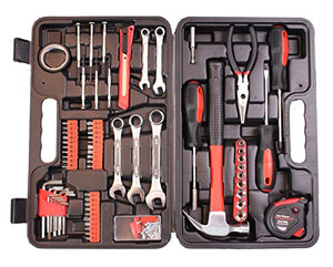 CARTMAN 148-Piece Tool Set - General Household Hand Tool Kit with Plastic Toolbox Storage Case - His Perfect Gifts