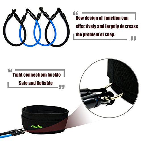 FIGROL Vertical Bounce Trainer Leg Resistance Bands Set-Leg Strength Muscle Workout - for Basketball Football Taekwondo Yoga Boxing Explosive Power Training - His Perfect Gifts